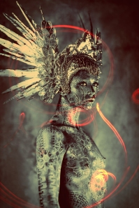Ash-Gupta-headpiece-Miss-G-Designs-body-paint-Michael-Rosner-Eye-Level-Studio